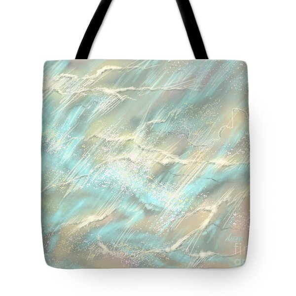 Tote Bag featuring the digital art Sunlight On Water by Amyla Silverflame