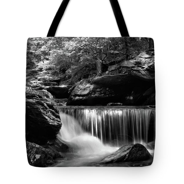 Sunlight On Waterfall Tote Bag