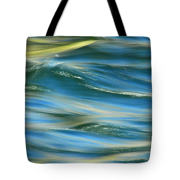 Sunlight Over The River Tote Bag by Donna Blackhall