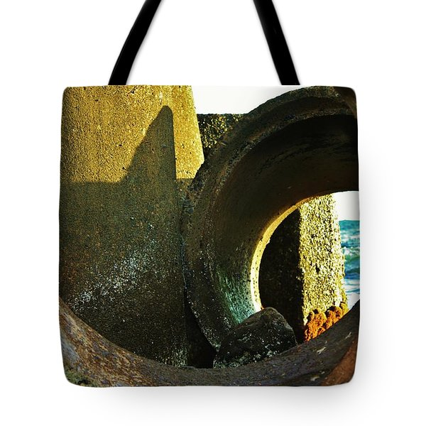 Sunlight Sea And Shadow Tote Bag by Craig Wood