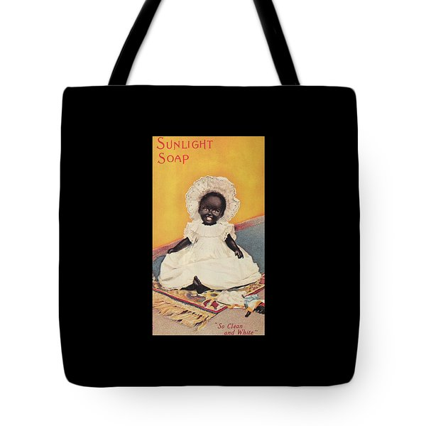 Tote Bag featuring the digital art Sunlight Soap So Clean And White by ReInVintaged