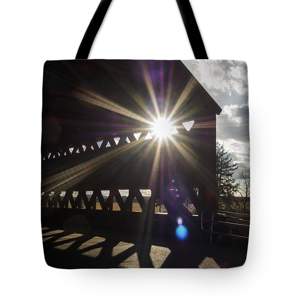 Sunlight Through Sachs Covered Bridge  Tote Bag