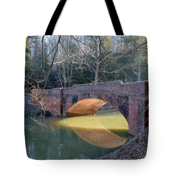 Sunlight Under Bridge Tote Bag