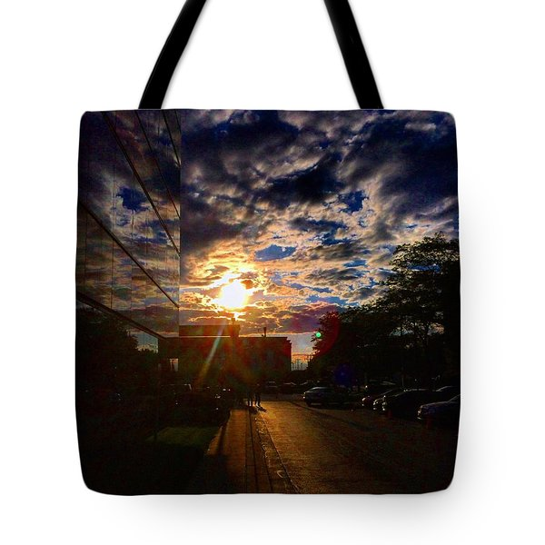 Sunlit Cloud Reflection Tote Bag