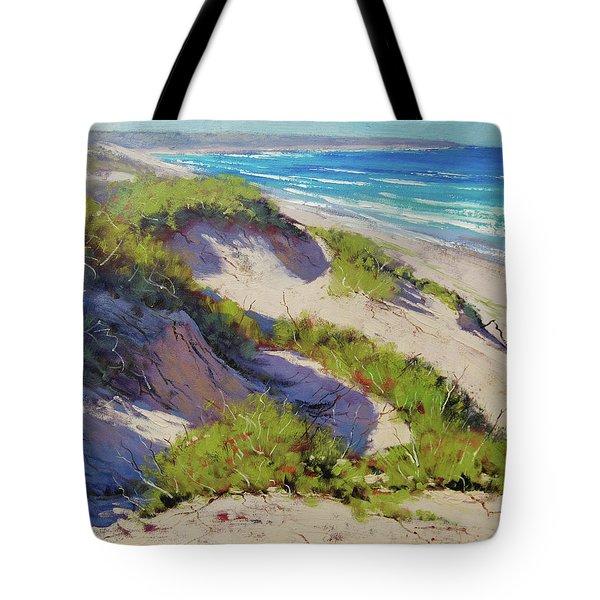 Sunlit Dunes Norah Head  Nsw Australia Tote Bag