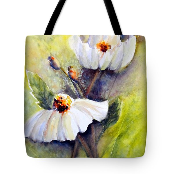 Sunlit Faces - Matilija Poppies Tote Bag