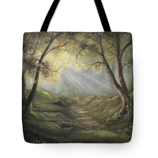 Sunlit Forrest  Tote Bag