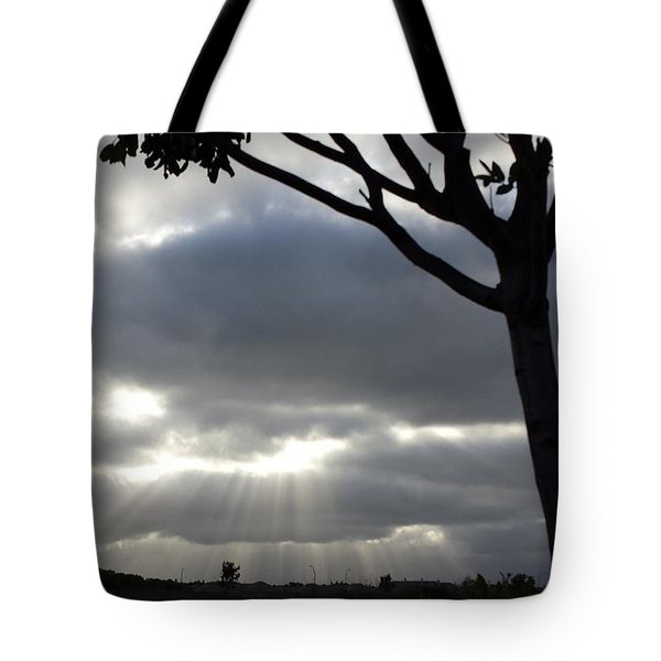 Sunlit Gray Clouds At Otay Ranch Tote Bag
