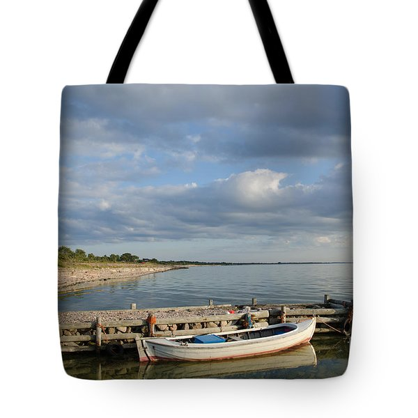 Sunlit Old Wooden Boat Tote Bag