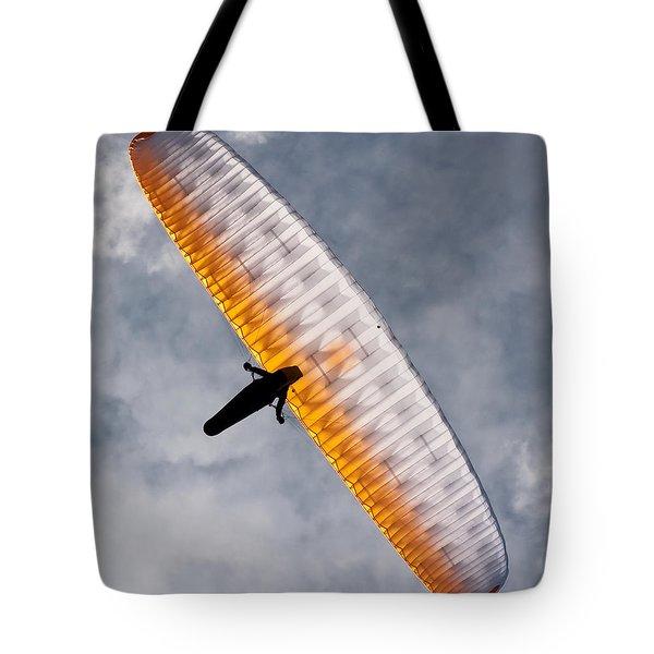 Sunlit Paraglider Tote Bag