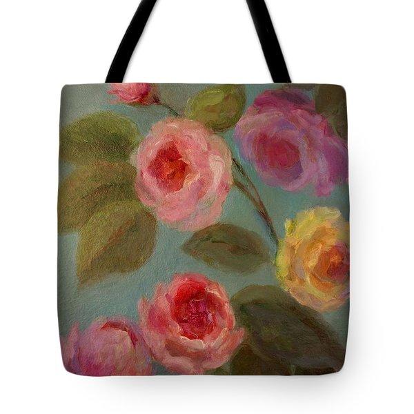Sunlit Roses Tote Bag