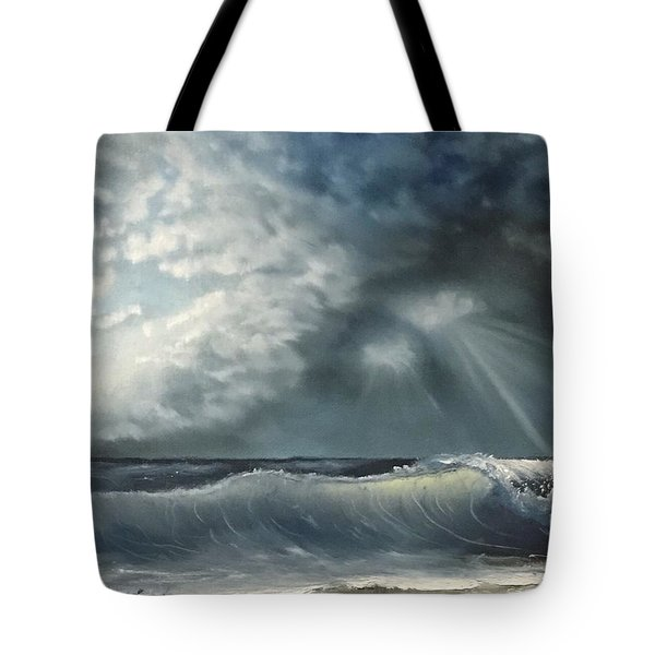 Sunlit Sea Tote Bag