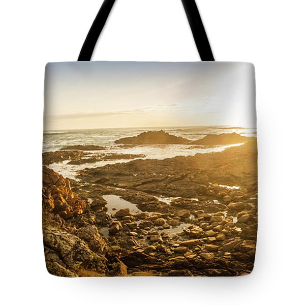 Sunlit Seaside Tote Bag
