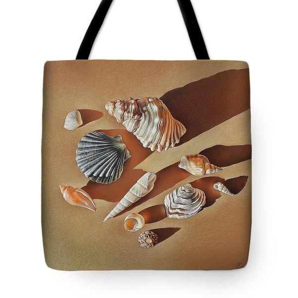 Sunlit Shells Tote Bag