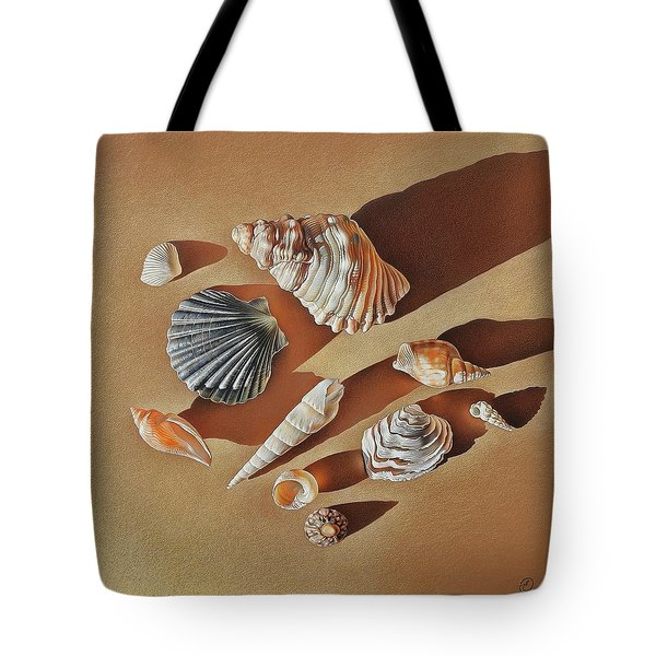 Sunlit Shells Tote Bag by Elena Kolotusha