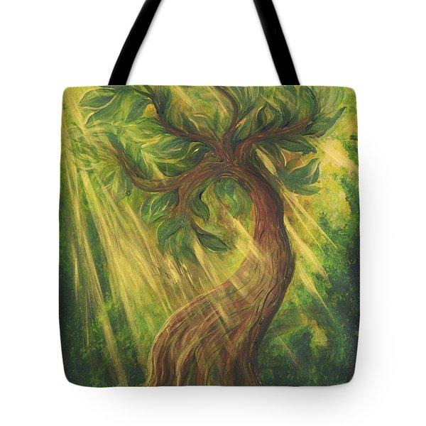 Sunlit Tree Tote Bag