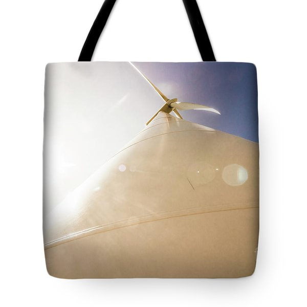 Sunlit Wind Power Tote Bag
