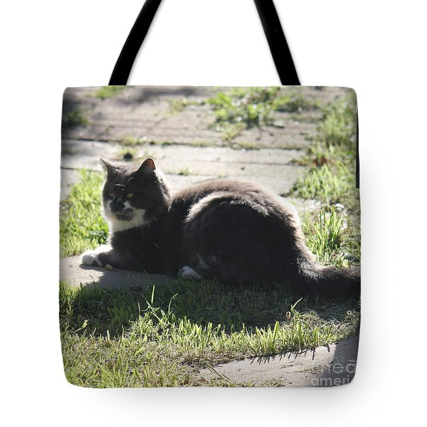 Sunning Ms. Mustache Tote Bag