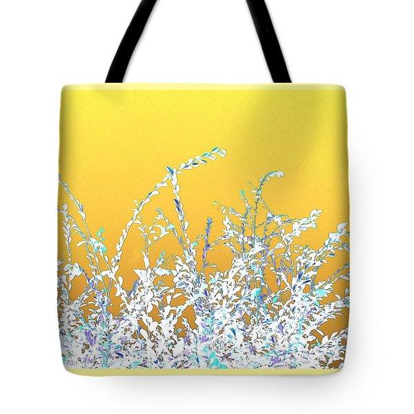Tote Bag featuring the digital art Sunny Austin Bush by Ellen Barron O'Reilly