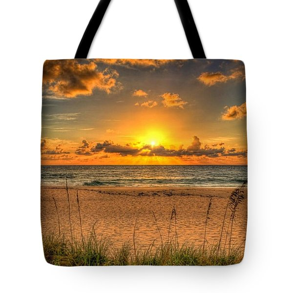 Sunny Beach To Warm Your Heart Tote Bag