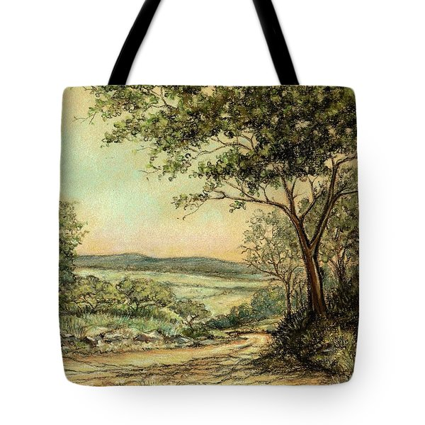 Tote Bag featuring the painting Sunny Bushveld by Heidi Kriel