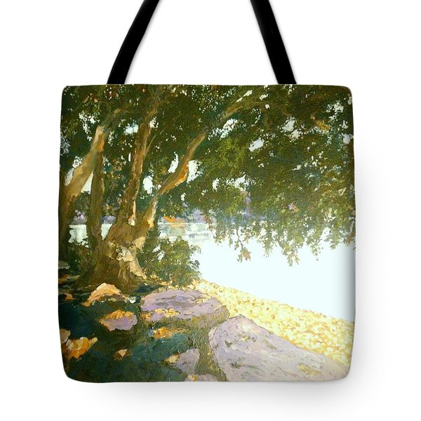 Sunny Day By An Old Tree Tote Bag