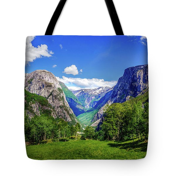 Tote Bag featuring the photograph Sunny Day In Naroydalen Valley by Dmytro Korol