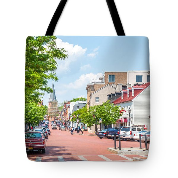 Tote Bag featuring the photograph Sunny Day On Main by Charles Kraus