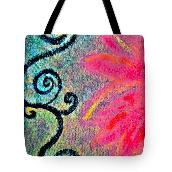 Sunny Day Pink Tote Bag by Gwyn Newcombe