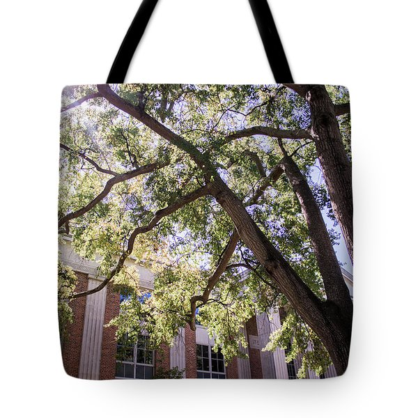 Tote Bag featuring the photograph Sunny Days At Uga by Parker Cunningham