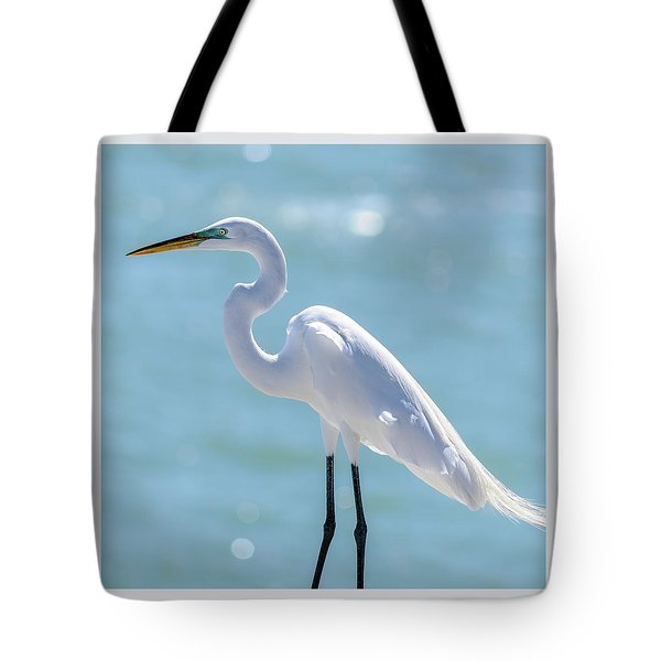 Tote Bag featuring the photograph Sunny Egret by Steven Sparks