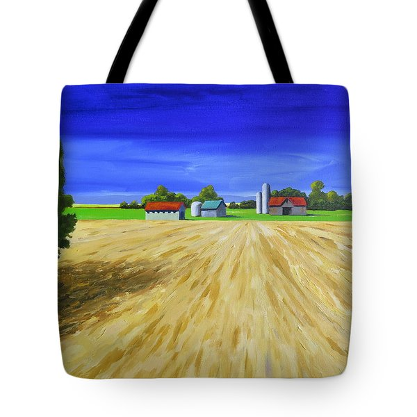 Tote Bag featuring the painting Sunny Fields by Jo Appleby