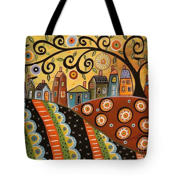 Sunny Landscape Tote Bag by Karla Gerard
