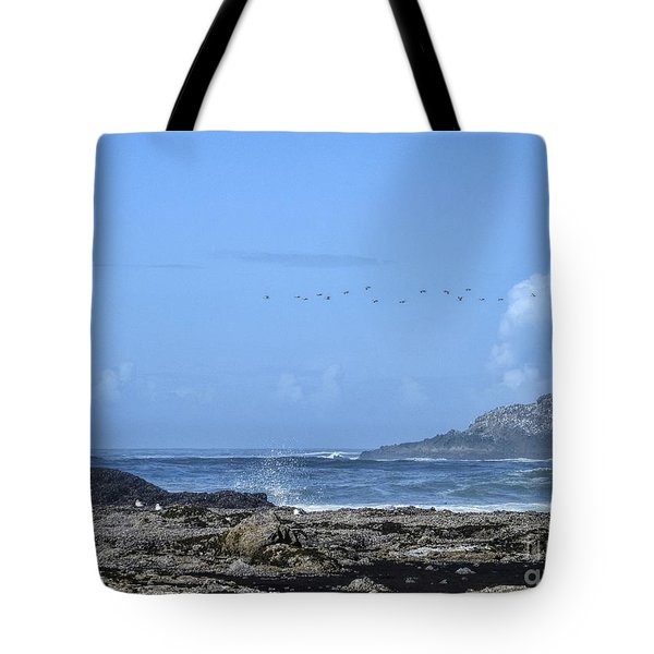 Tote Bag featuring the photograph Sunny Morning At Roads End by Peggy Hughes