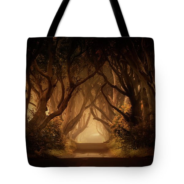 Sunny Morning In Dark Hedges Tote Bag