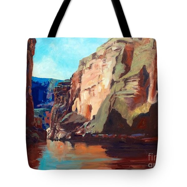 Sunny Morning On The Mighty Colorado Tote Bag