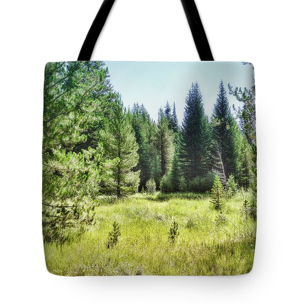 Tote Bag featuring the photograph Sunny Mountain Meadow - Landscape Photograph by Ann Powell