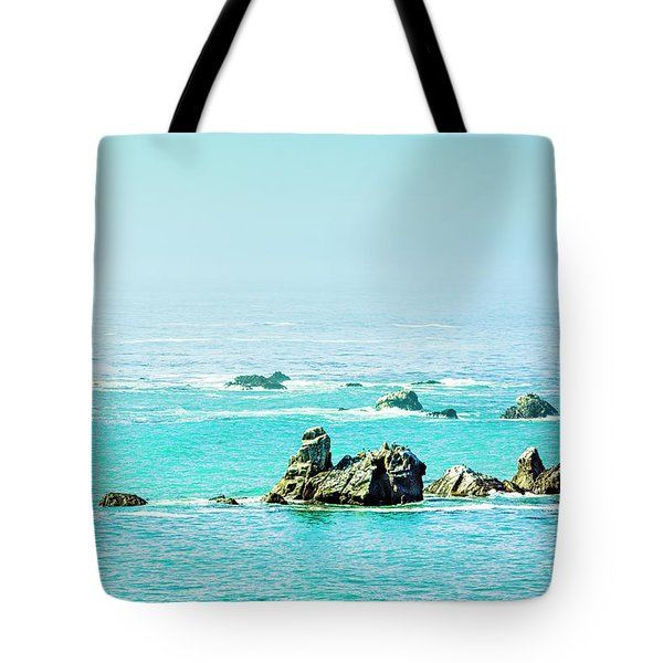Sunny Pacific Ocean Oregon Coast Tote Bag