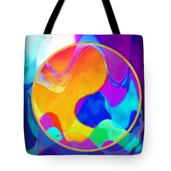 Sunny Sea Unbordered Tote Bag by Mathilde Vhargon