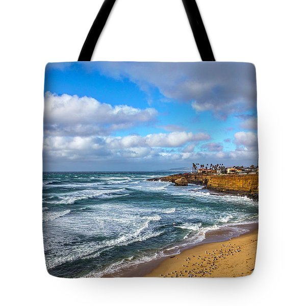 Sunny Sunset Cliffs Tote Bag by Peter Tellone