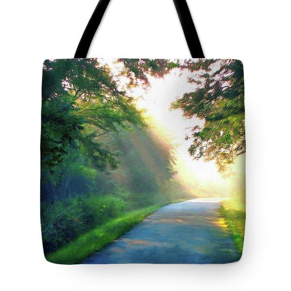 Sunny Trail Tote Bag by Cedric Hampton