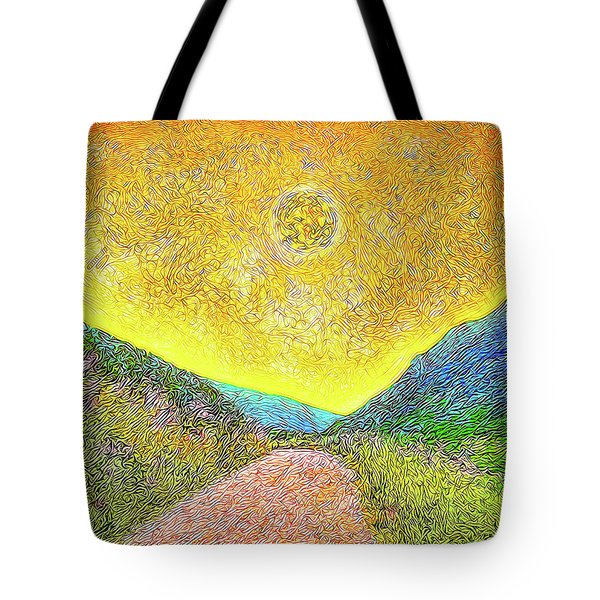 Sunny Trail - Marin California Tote Bag by Joel Bruce Wallach