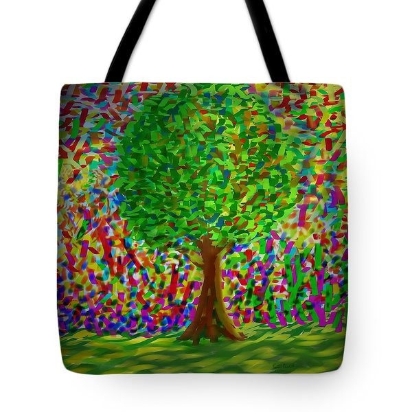 Tote Bag featuring the painting Sunny Tree by Kevin Caudill