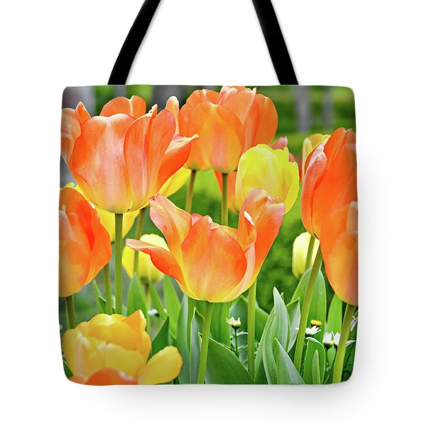 Tote Bag featuring the photograph Sunny Tulips by David Lawson