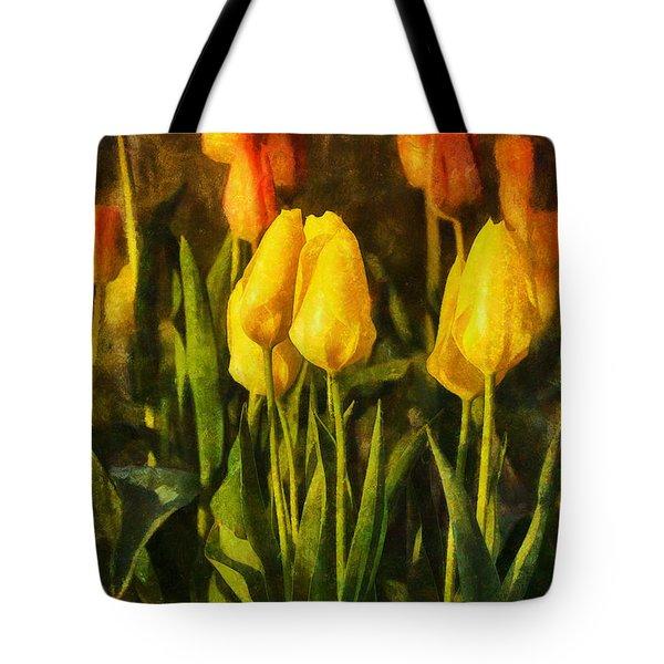 Sunny Tulips Tote Bag