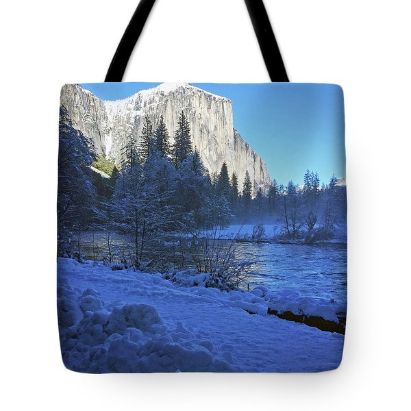 Tote Bag featuring the photograph Sunny Winter Day 01 13 17 by Walter Fahmy