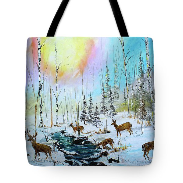 Sunny Winter Tote Bag