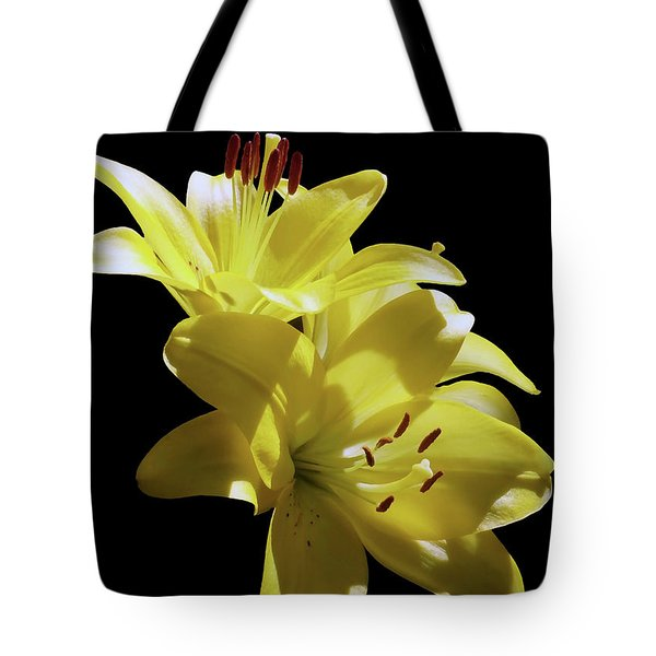 Sunny Yellow Lilies Tote Bag