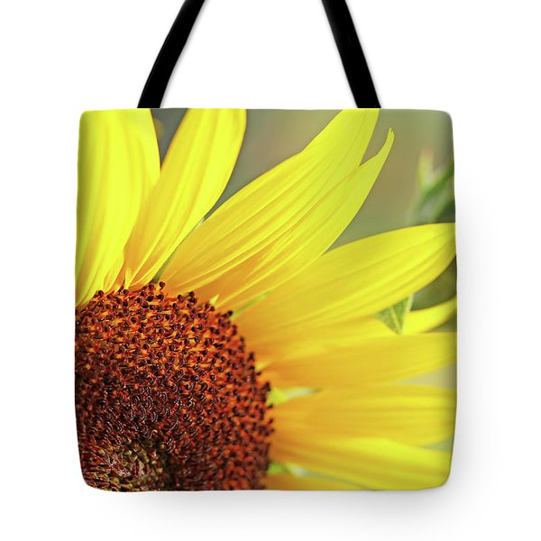 Tote Bag featuring the photograph Sunny Yellow Sunflower by Jennie Marie Schell