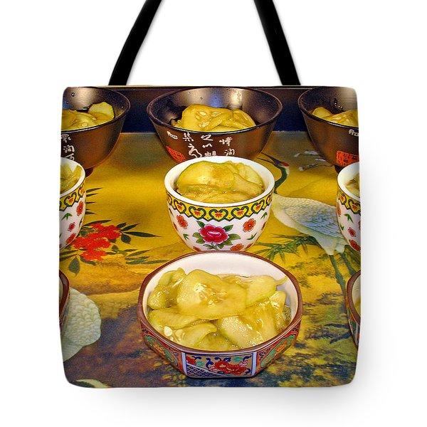 Sunomono In Japanese Teacups Tote Bag